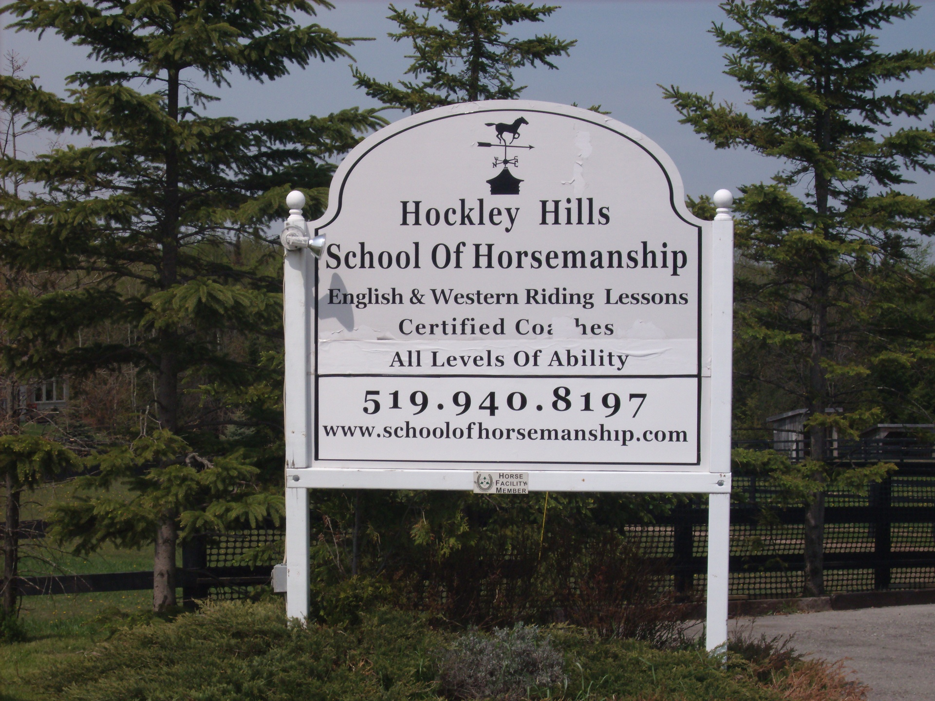 Hockley Hills School of Horsemanship, 246063 County Rd. 16, Mono, Ontario, L9W6K2, Canada